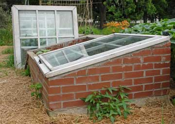 coldframe made of brick