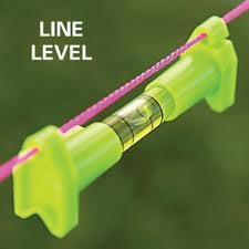 simple line level for helping to level a grade